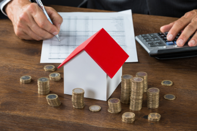 professional calculating a housing loan